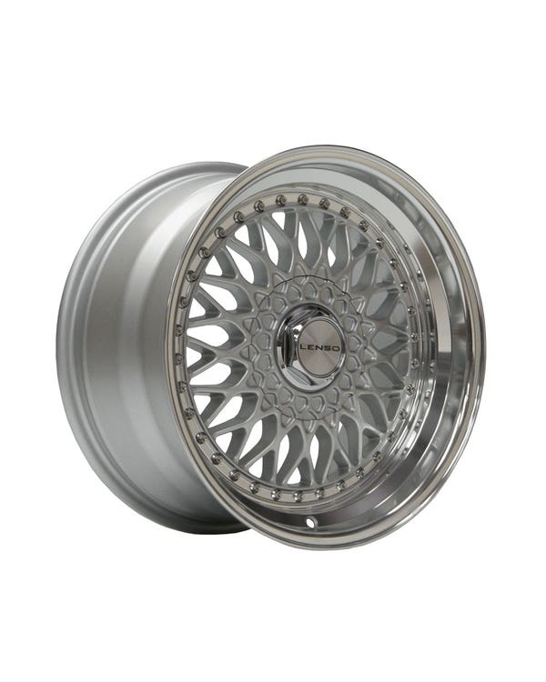 """Lenso BSX Alloy Wheel Silver Polished, 9x16"""", 4/100 PCD, ET20"""