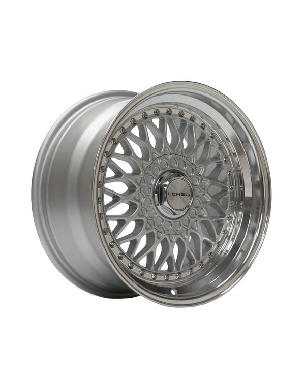 "Lenso BSX Alloy Wheel Silver Polished, 9x16"", 4/100 PCD, ET20"