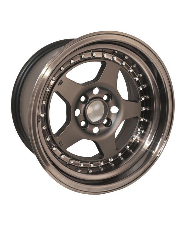 "Rota Kyusha Alloy Wheel In Black 8x15"", 4/100 PCD, ET0"