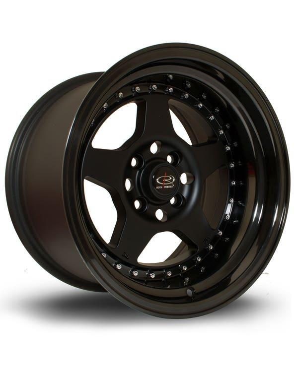 Rota Kyusha Alloy Wheel Black, 9x15'' 4x100 PCD, ET0