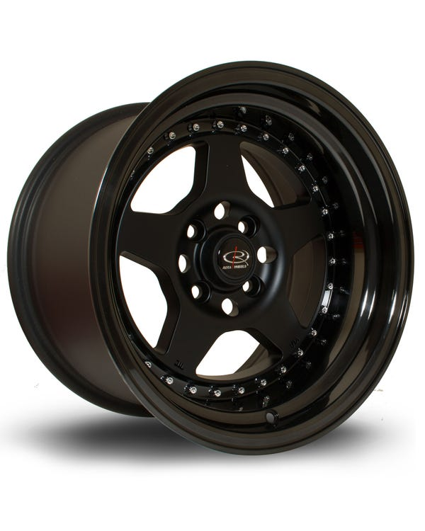 Rota Kyusha Alloy Wheel Black, 9x15'' 4x100 PCD, ET0
