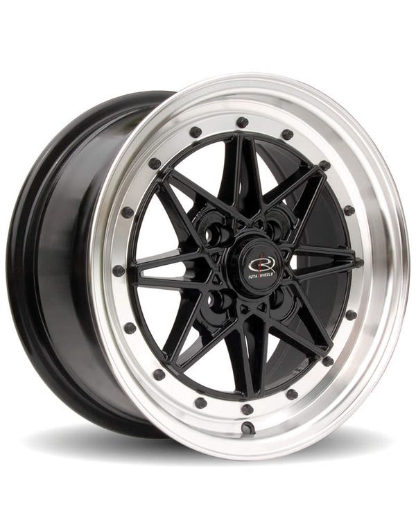 Rota Flashback Alloy WheelBlack Polished, 7x15'', 4/100 PCD, ET40