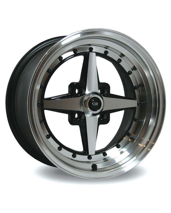 Rota Zero Plus Alloy Wheel Black Polished 8x15'', 4/100 PCD, ET10