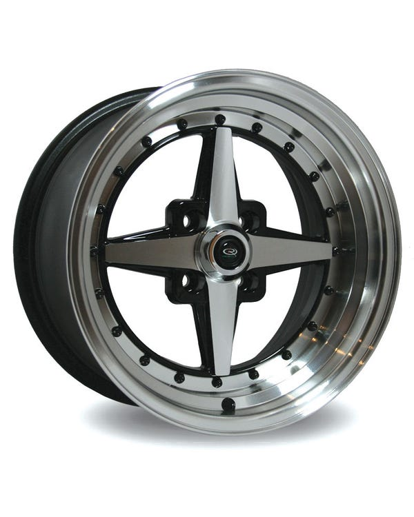Rota Zero Plus Alloy Wheel Black Polished 8x15'', 4/100 PCD, ET10
