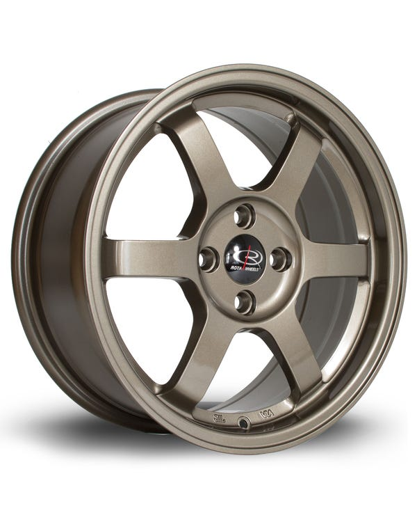 Rota Grid Alloy Wheel Bronze, 7x16'', 4/100 PCD, ET40