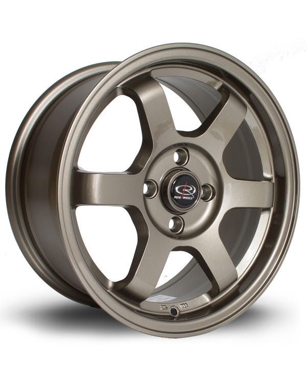 Rota Grid Alloy Wheel Bronze, 7x15'', 4/100 PCD, ET40