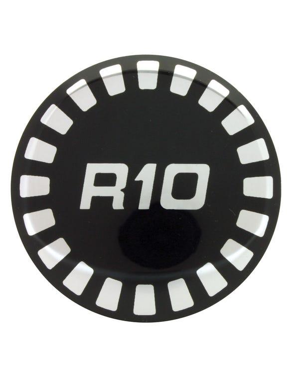 Ronal R10 Wheel Centre Cap Black and Silver