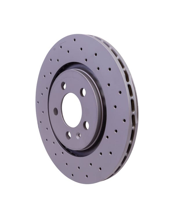 Sport Cross-Drilled Vented Front Brake Rotors 280x22mm