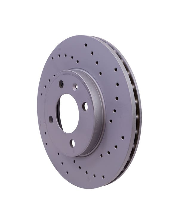 Sport Cross-Drilled Vented Front Brake Discs 256x20mm