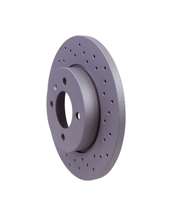 Sport Cross-Drilled Solid Front Brake Rotors 256x13mm