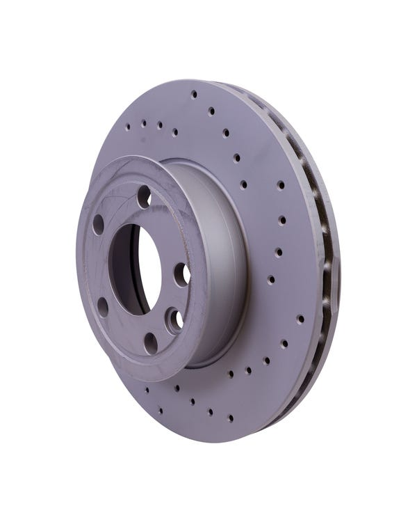 Sport Cross-Drilled Vented Front Brake Rotors 280x24mm to fit PR code 1LE
