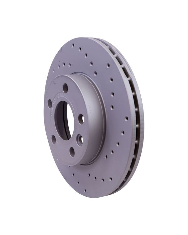Sport Cross-Drilled Vented Front Brake Discs 280x24mm