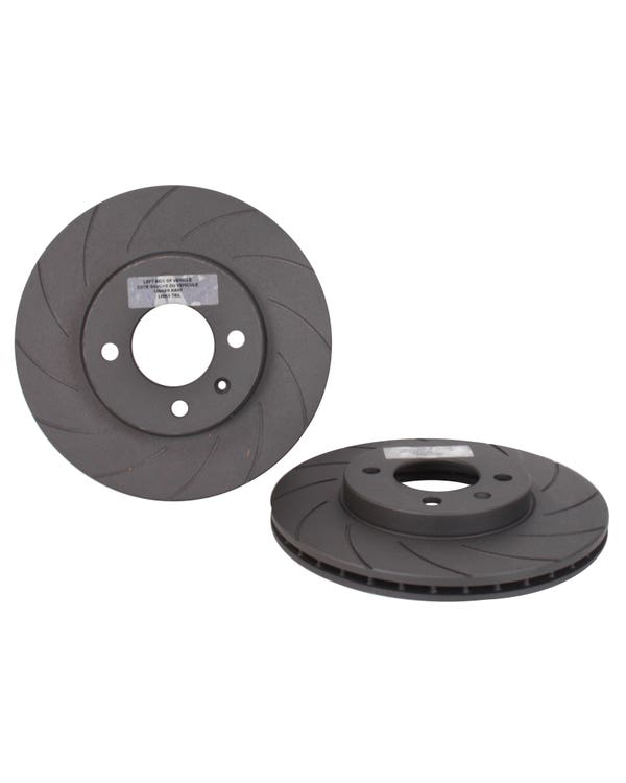 Black Diamond Front Brake Rotors 256x20mm Grooved Vented Pair