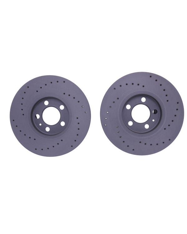 Black Diamond Drilled Front Brake Discs 288x25mm