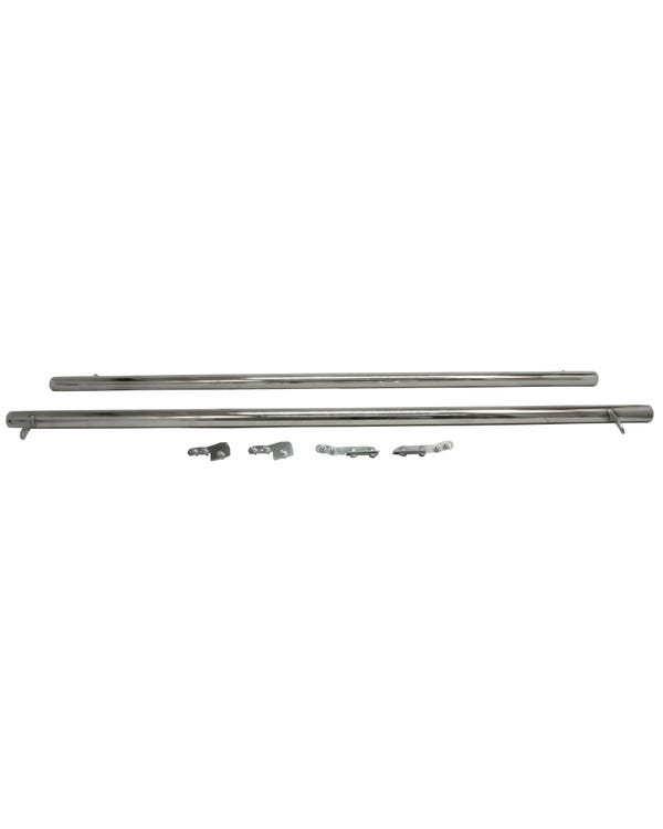SSP 60mm Stainless Steel Side Bars with Domed Ends to fit Short Wheelbase