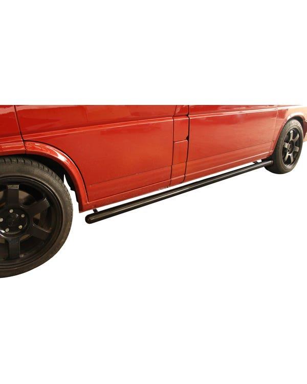 SSP Side Bars in 60mm Black Powder Coat for Long Wheelbase