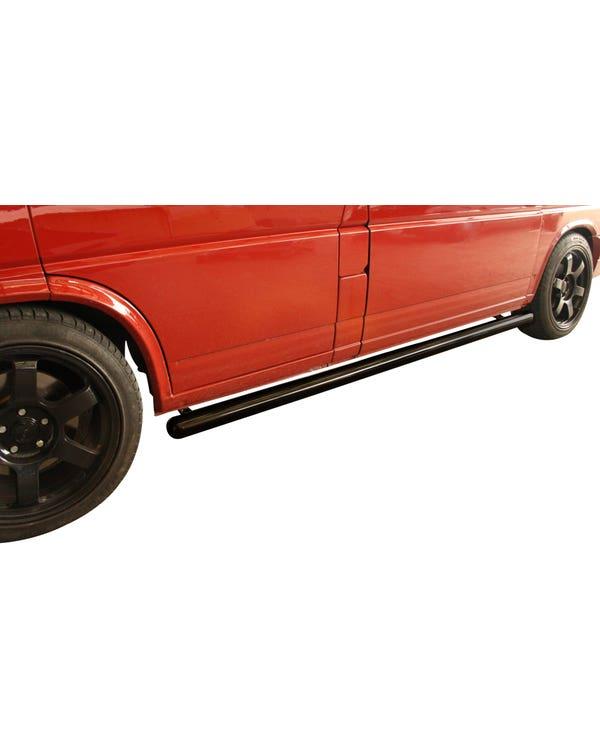 SSP Side Bars in 76mm Black Powder Coat for Long Wheelbase