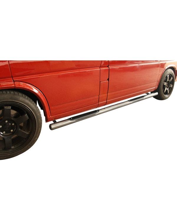 SSP Sport Side Bars in 70mm Stainless Steel for Right Hand Drive Short Wheelbase