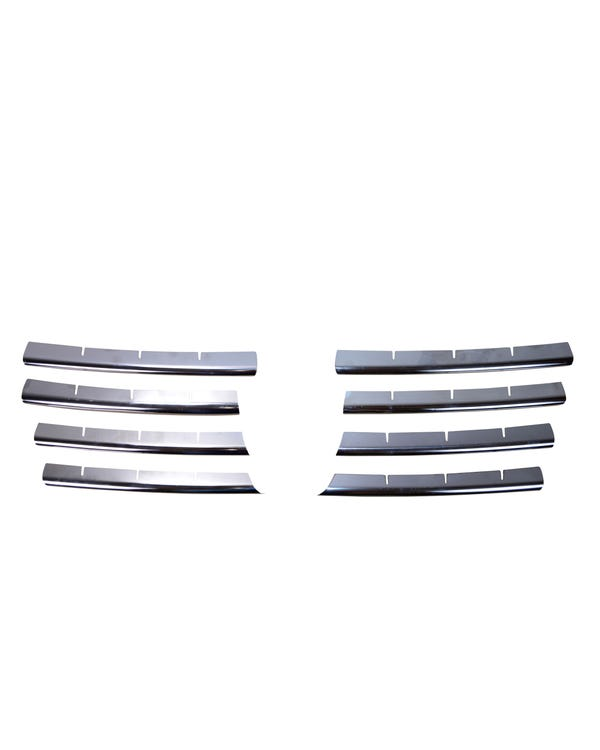 Front Grille 8 Piece Stainless Steel Chrome Trim Kit