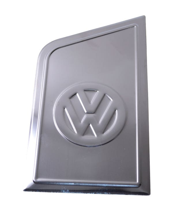 Fuel Flap Decorative Trim Cover Stainless Steel with a Chrome Mirror Finish