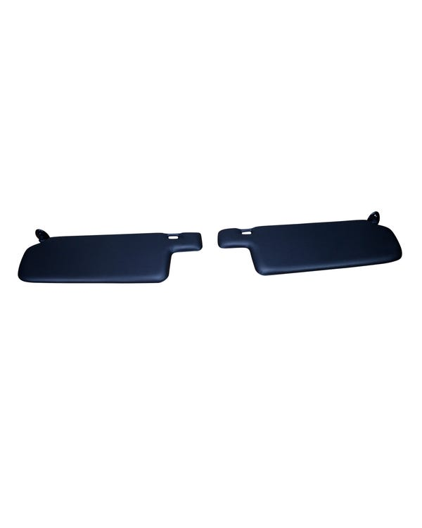 Sun Visor Set in Black with Right Vanity Mirror for Cabriolet