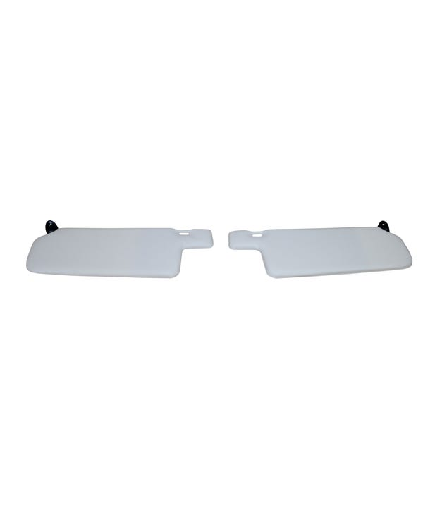 Sun Visor Set in Cream and Black with Right Vanity Mirror