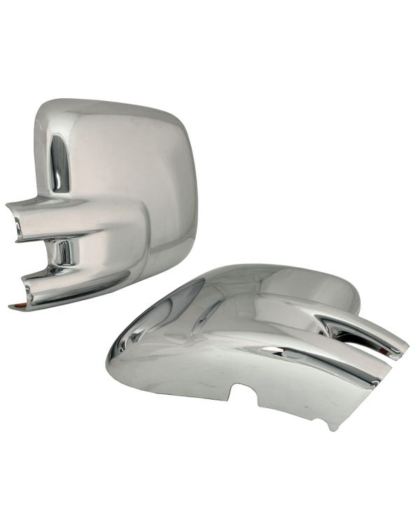 Mirror Covers, Chrome, T4 LHD, Self-Adhesive, Pair