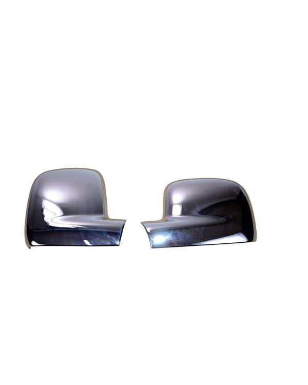 Cubiertas para retrovisor lateral cromado. Volante a la derecha