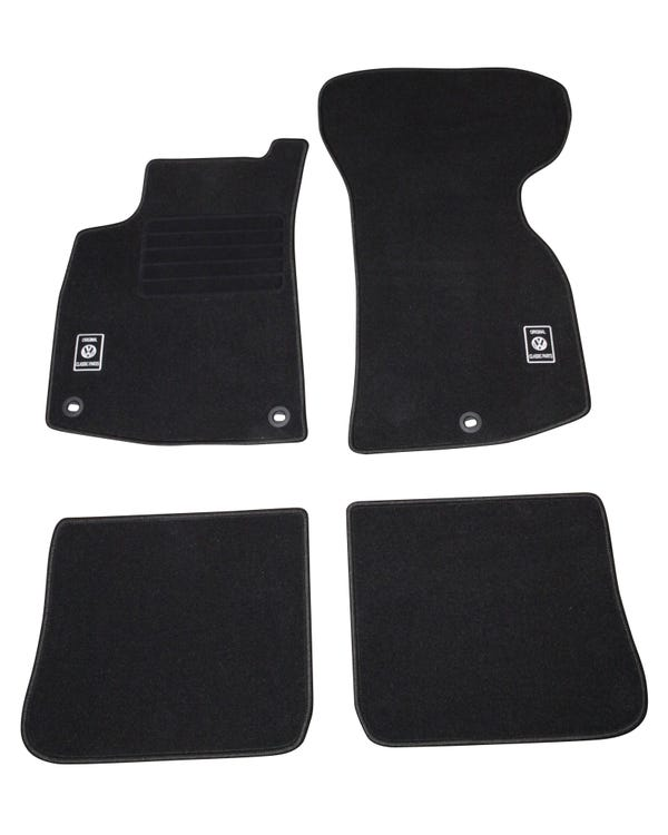 Carpet Mat Set for Left Hand Drive Black 4Pieces