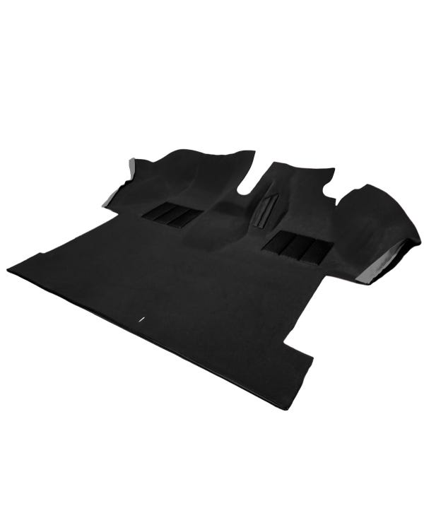 Cab Carpet, Fully Moulded, Caravelle Style, Right Hand Drive, Black