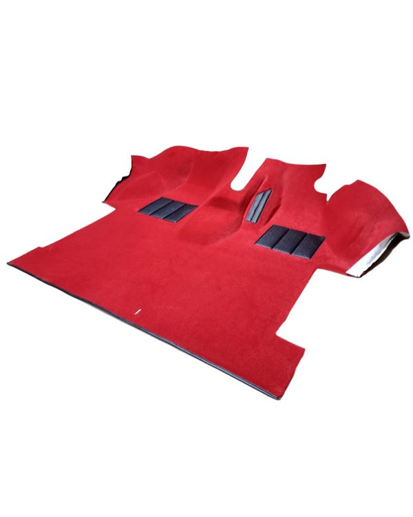Cab Carpet, Fully Moulded, Caravelle Style, Right Hand Drive, Red