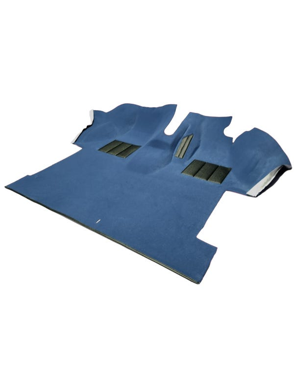Cab Carpet, Fully Moulded, Caravelle Style, Right Hand Drive, Blue