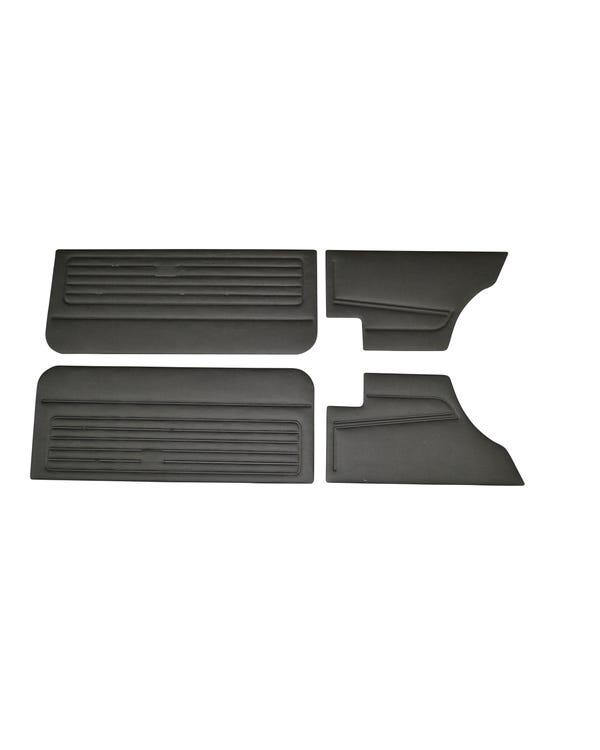 Kit panel interior puerta de vinilo negro. 3 puertas