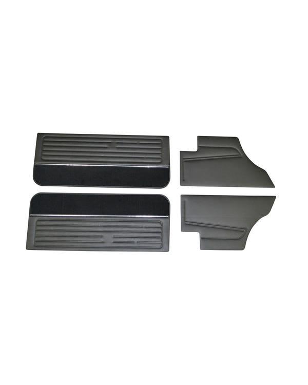 Türinnenverkleidungssatz + Teppic, 2 & 3 Türer, schwarzes Vinyl