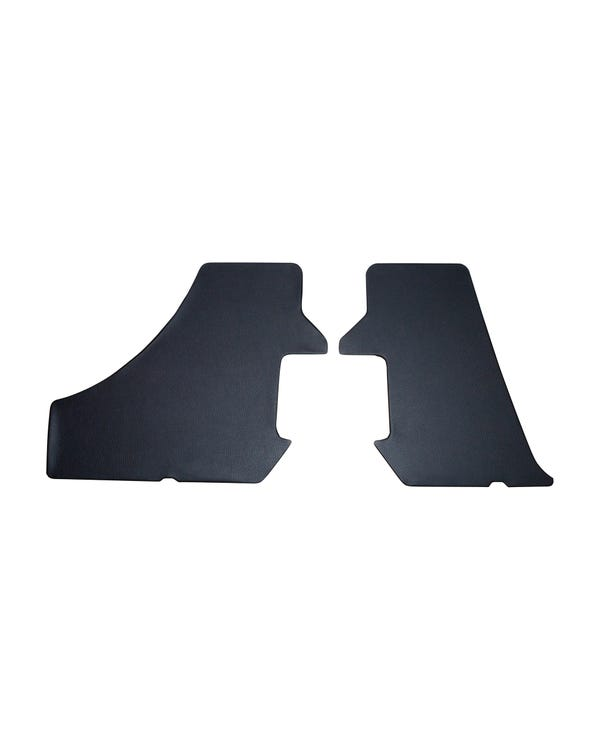 Boot Side Trims in Black Vinyl for Manual Roof Cabriolet
