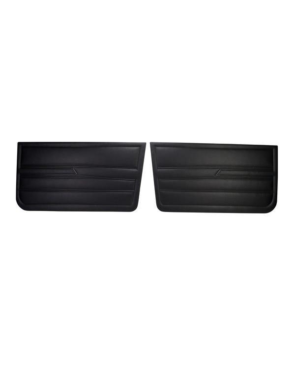 Kit paneles de puerta de vinilo negro. Pareja. Modelo 4 puertas