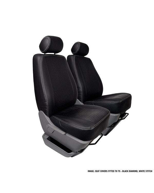 Vordersitzbezug, Einzelsitz, mittig grau mit schwarzen Seiten und grauen Nähten