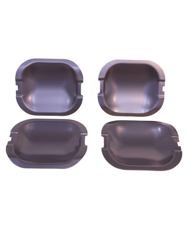 Armoured Door Handle Plates in Black