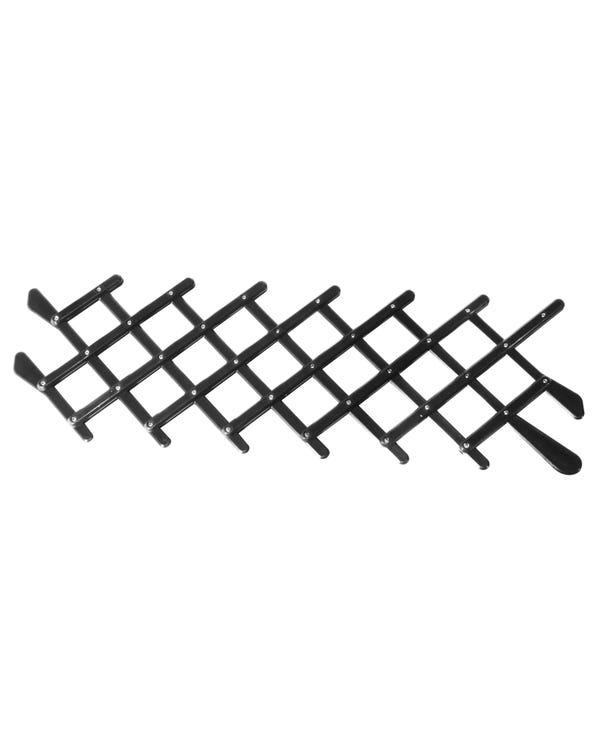 Frischluftgitter im Retro-Style, Kunststoff, schwarz