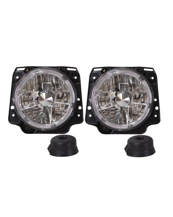 Headlights Clear Crystal Angel Eyes for Right Hand Drive