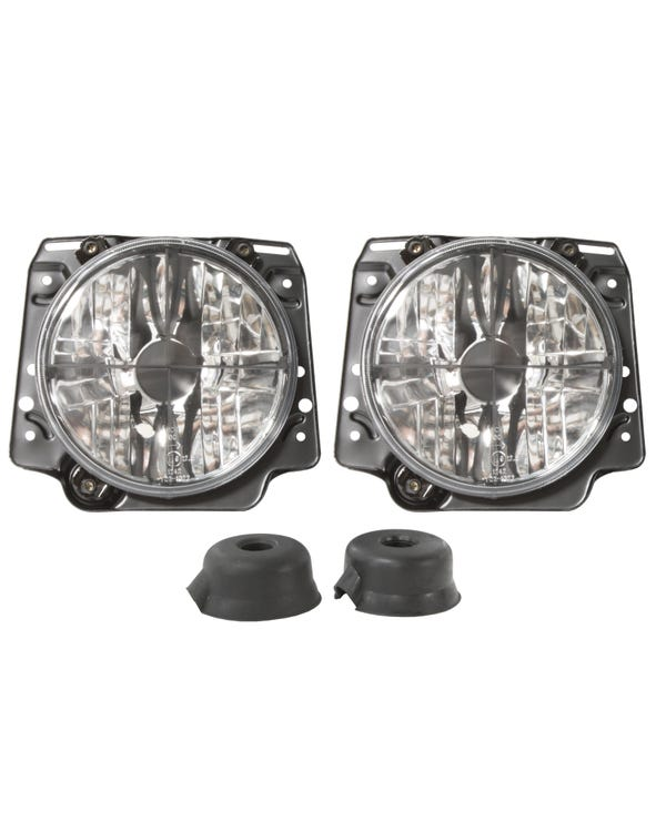 Headlights Clear Crystal Crosshair for Right Hand Drive
