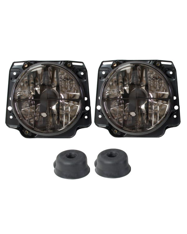 Headlights Smoked Crystal Crosshair for Right Hand Drive