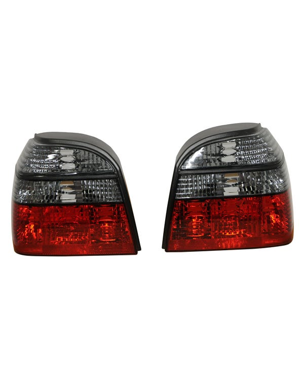 Rear Light Set, Crystal Red and Smoked