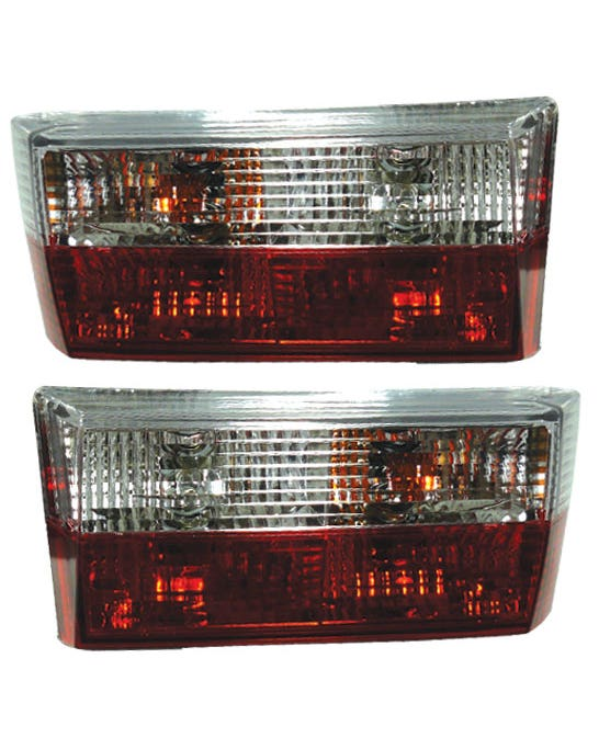 Rear Lights Clear and Red Crystal M3 Style