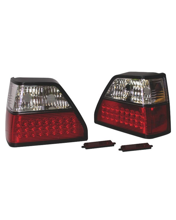 Rear Light Set in Crystal Clear and Red with LEDs