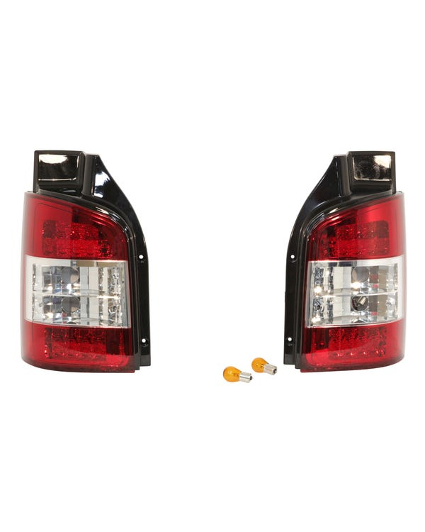 Rear Light Set in Crystal Clear and Red for Tailgate Model