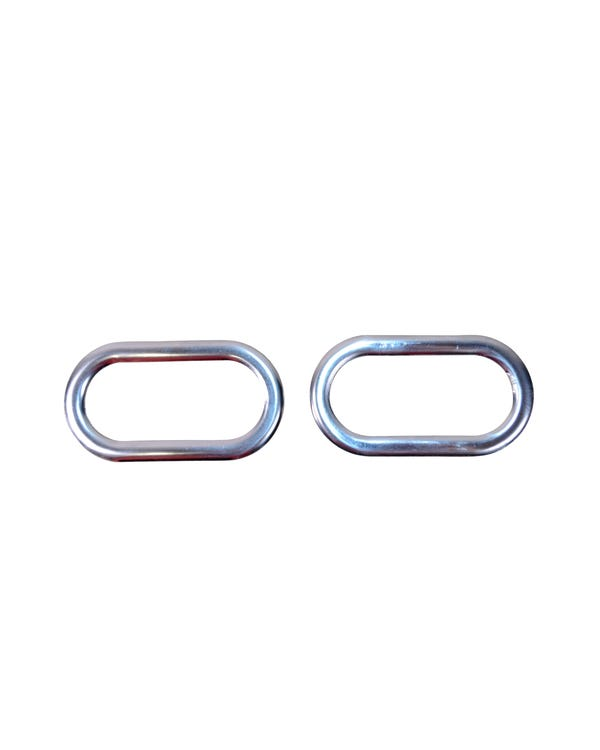 Side Indicator Trim Surrounds Stainless Steel with a Chrome Mirror Finish