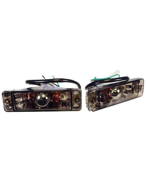Front Turn Signal Assembly with Smoked Lens Pair