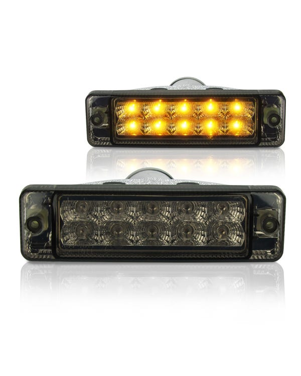 Front Indicator Assembly with Smoked LED Lens for Small Bumper Pair