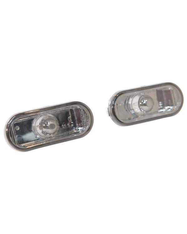 Pareja de intermitentes laterales con lentes ahumadas